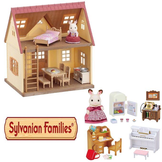 Kit-Sylvanian-Families---Minha-Primeira-Casa-e-Conjunto-Moveis-Classicos