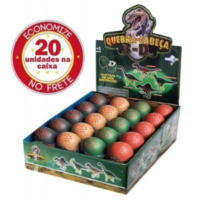 Kit-Quebra-Cabeca-3d-Dinossauros-com-20-Unidades-