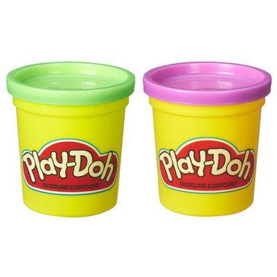 play-doh-2-potes-verde-e-roxa-conteudo
