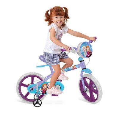 bicicleta-aro-14-frozen-com-crianca
