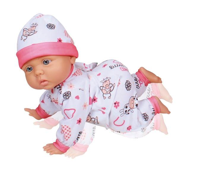 bonecas baby engatinha fa monica baby brink pre os no buscap. Black Bedroom Furniture Sets. Home Design Ideas