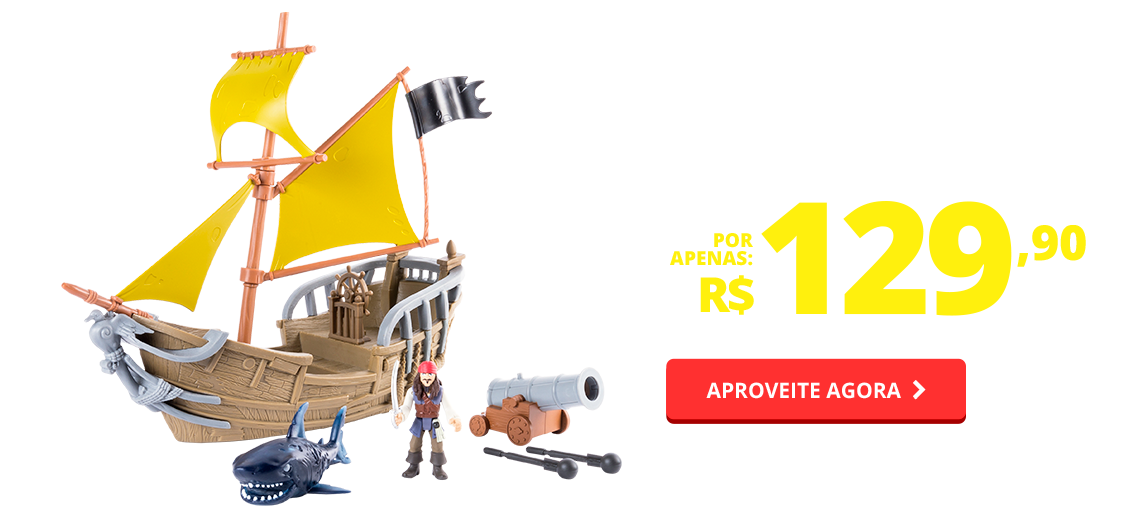 BF - PIRATAS DO CARIBE - NAVIO PIRATA JACK SPARROW - SUNNY