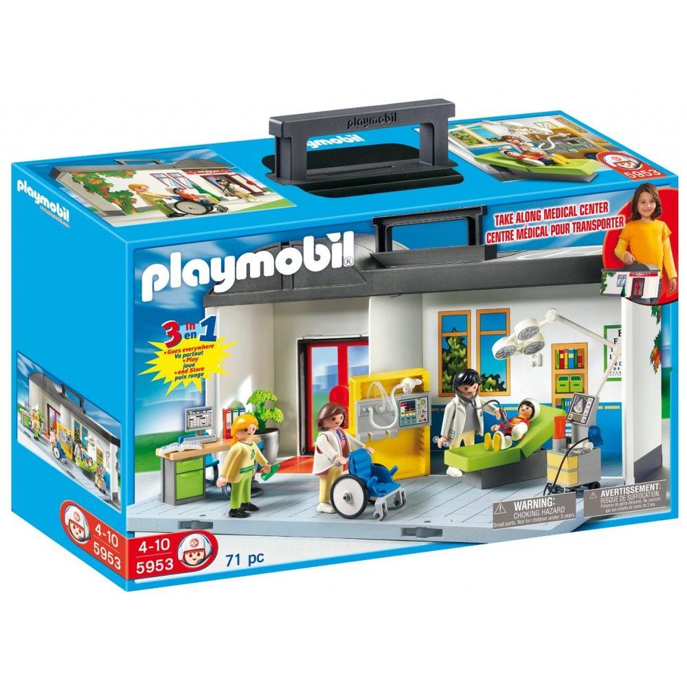 cada36f3a 5953 Playmobil - Maleta Hospital - MP Brinquedos