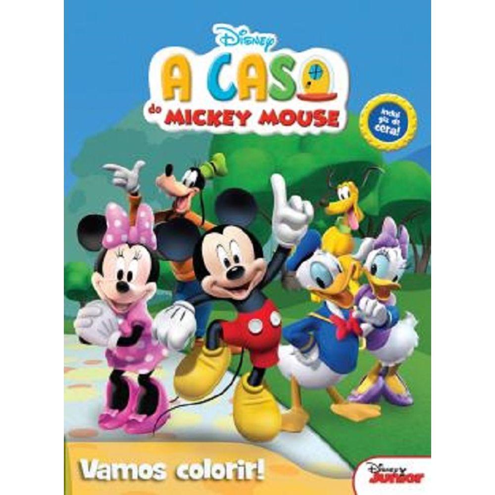 Livro Disney Vamos Colorir A Casa Do Mickey Mouse Mp Brinquedos