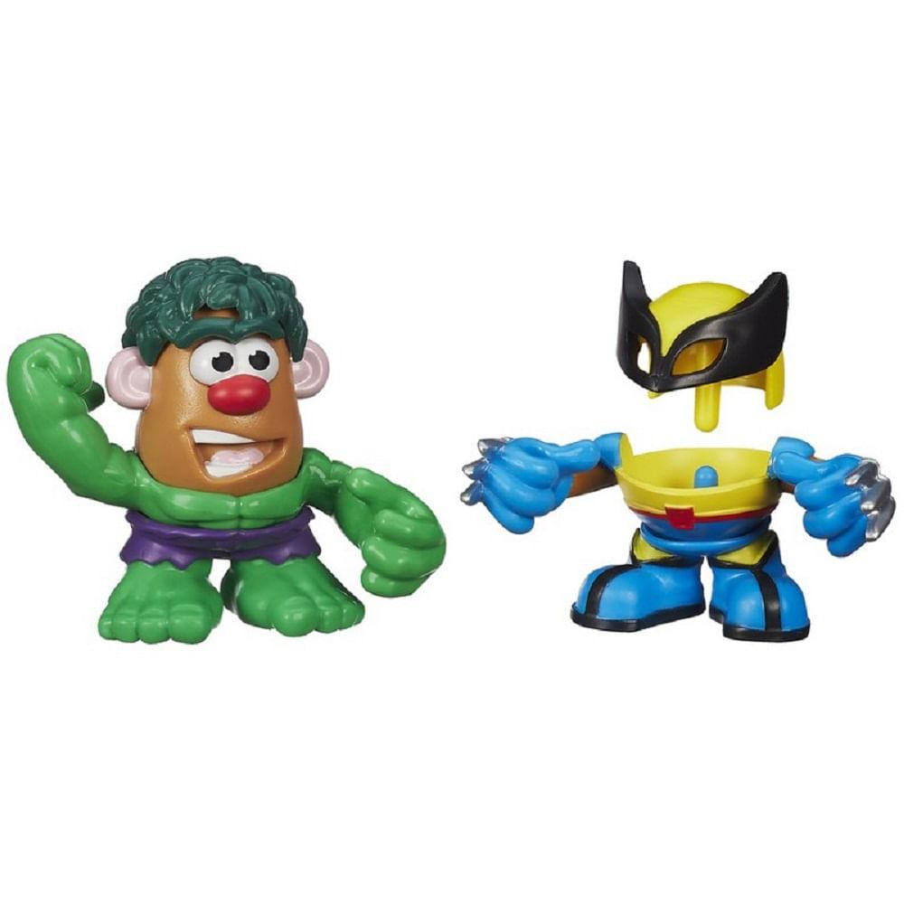 Boneco Sr.Cabeça De Batata Marvel C 2 Fantasias - Hulk E Wolverine A8073 -  MP Brinquedos 3e9e75e06ca
