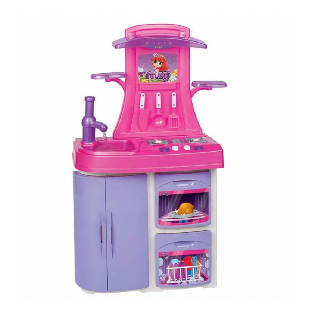 Cozinha Infantil Vers Til Rosa Mp Brinquedos Loja De Brinquedos
