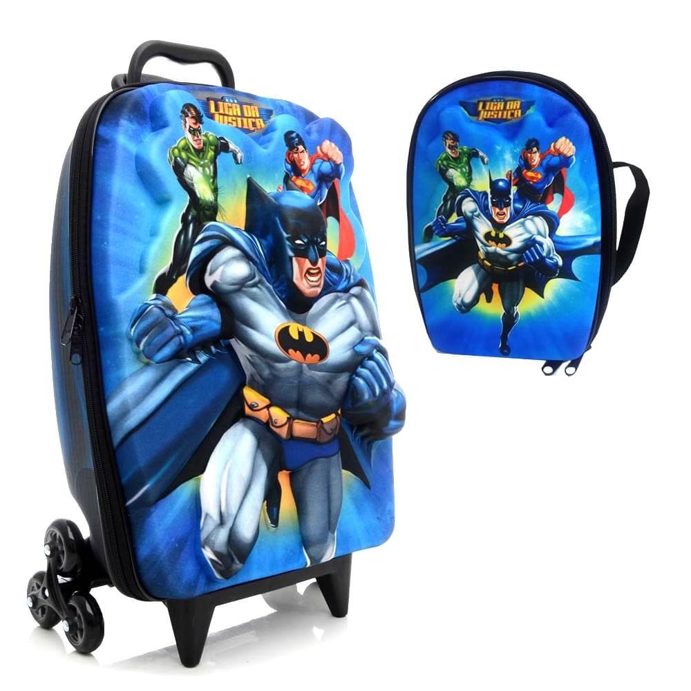 0a4cf40ae2 Mochila C Rodinhas 3D + Lancheira Liga Da Justiça Batman 2813 - MP  Brinquedos