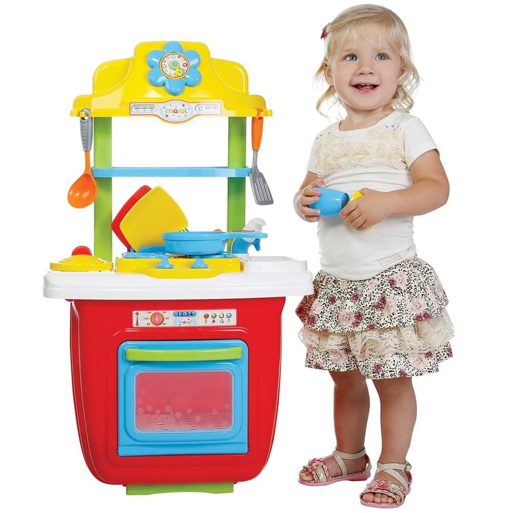 Cozinha Infantil Port Til Colorida Maral Mp Brinquedos Loja De