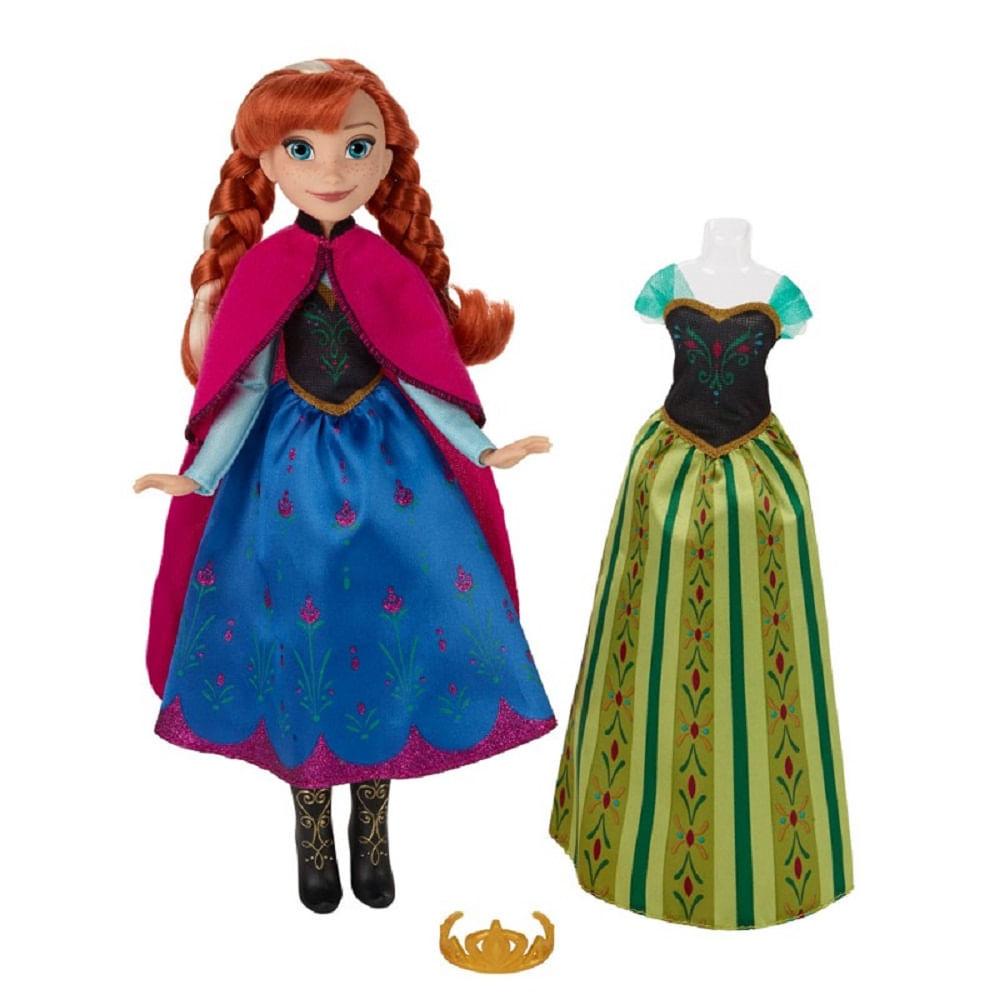 8d17d67edd Boneca Disney Frozen - Vestidos Reais - Anna B5171 - Hasbro - MP Brinquedos