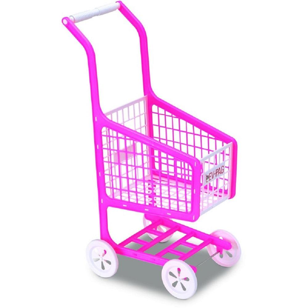 3ad1852451 Carrinho De Supermercado Infantil Lev-Pag - Rosa - MP Brinquedos