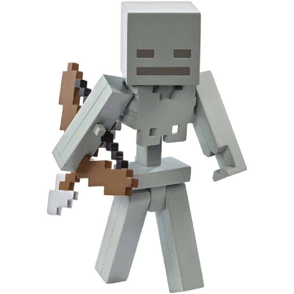 minecraft boneco esqueleto lançador de flechas grande dnh13 mp