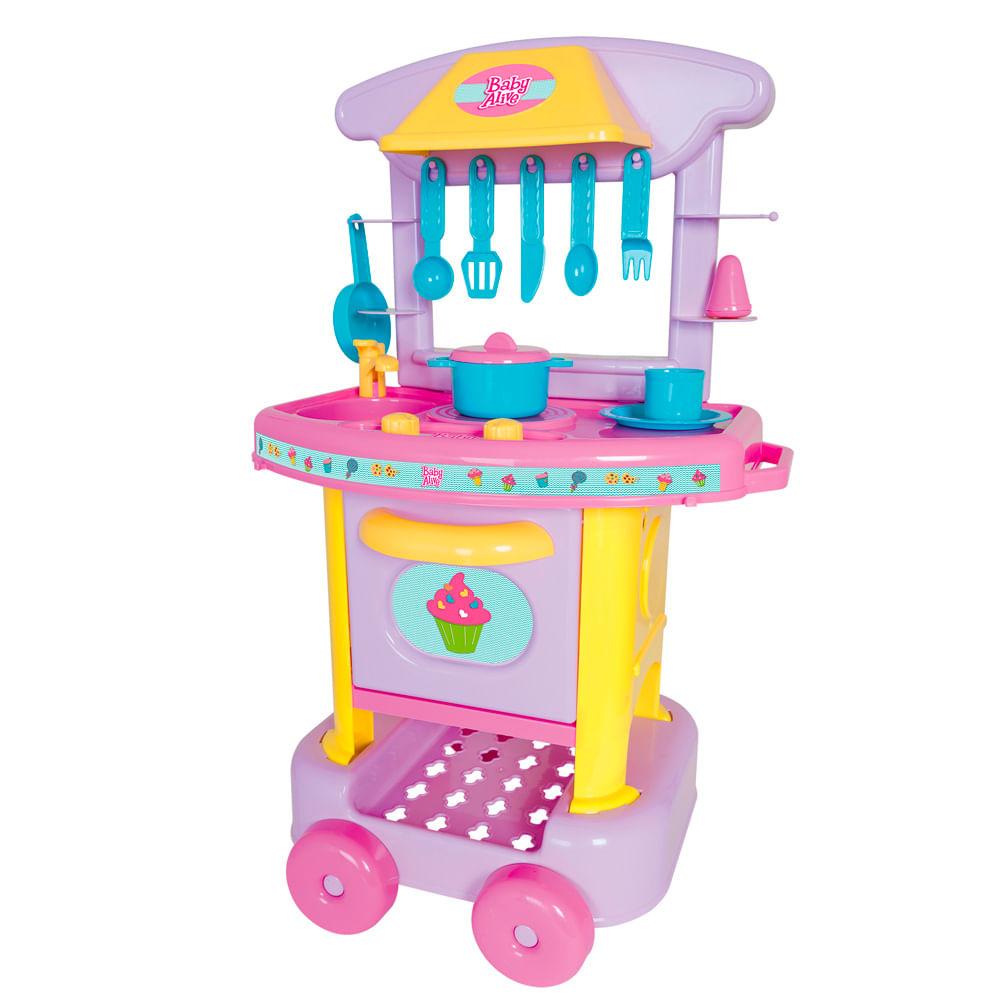 Baby Alive Cozinha Infantil Divertida Mp Brinquedos ~ Mercado Livre Cozinha Infantil
