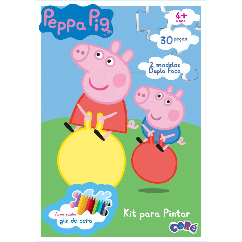 Peppa Pig Quebra Cabeca Para Pintar 30 Pecas Mp Brinquedos