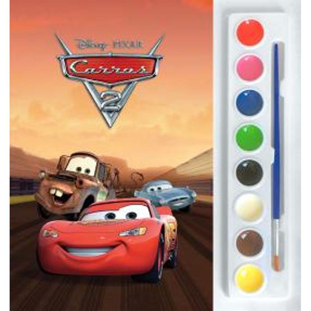 8097e98ad2 Livro Mini Aquarela Disney - Carros 2 - MP Brinquedos