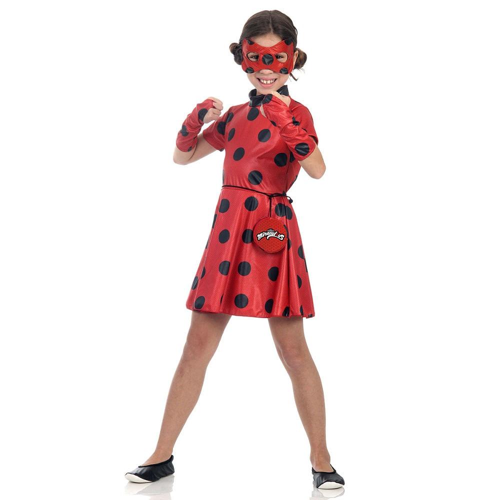 4a892b4bf6 Fantasia Miraculous - Ladybug Vestido - MP Brinquedos
