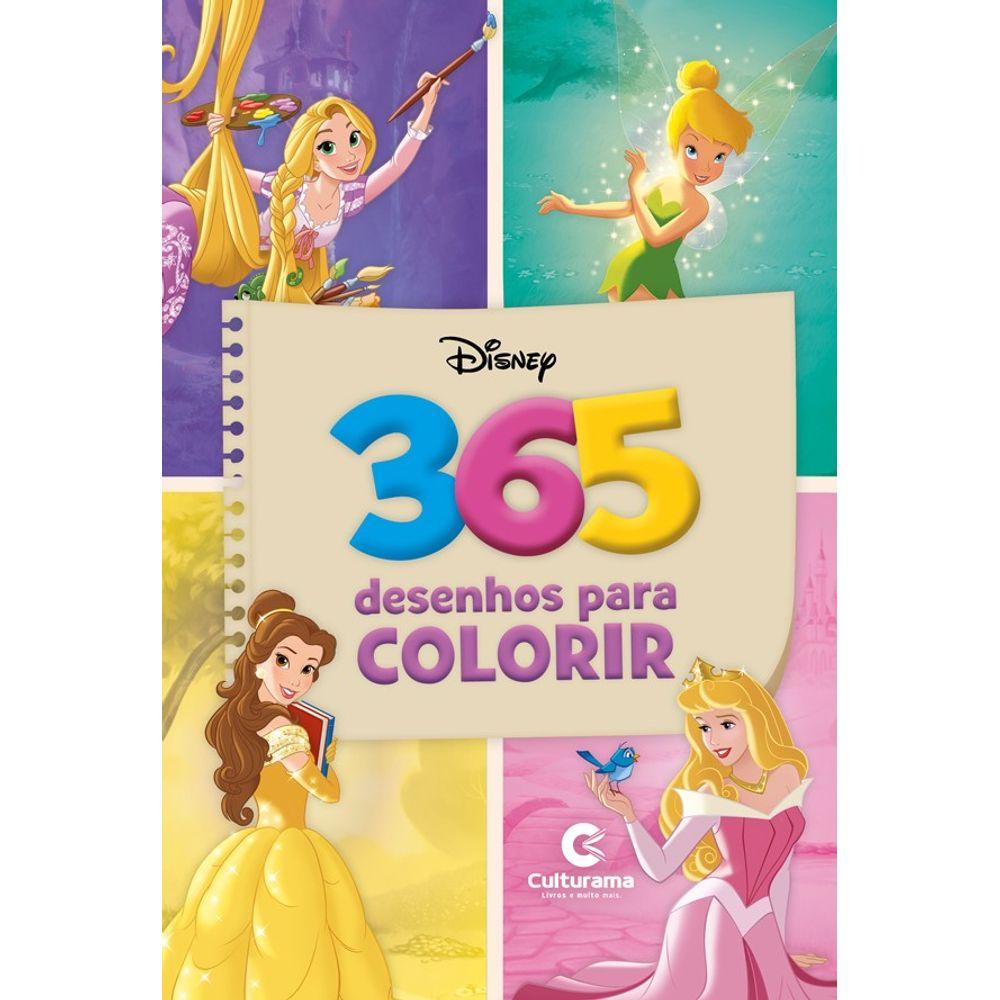 Livro 365 Desenhos Disney Meninas Culturama Mp Brinquedos