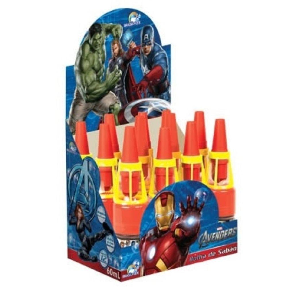 39d70b3176 Kit Bolha de Sabão com Apito Vingadores com 12 Peças - MP Brinquedos