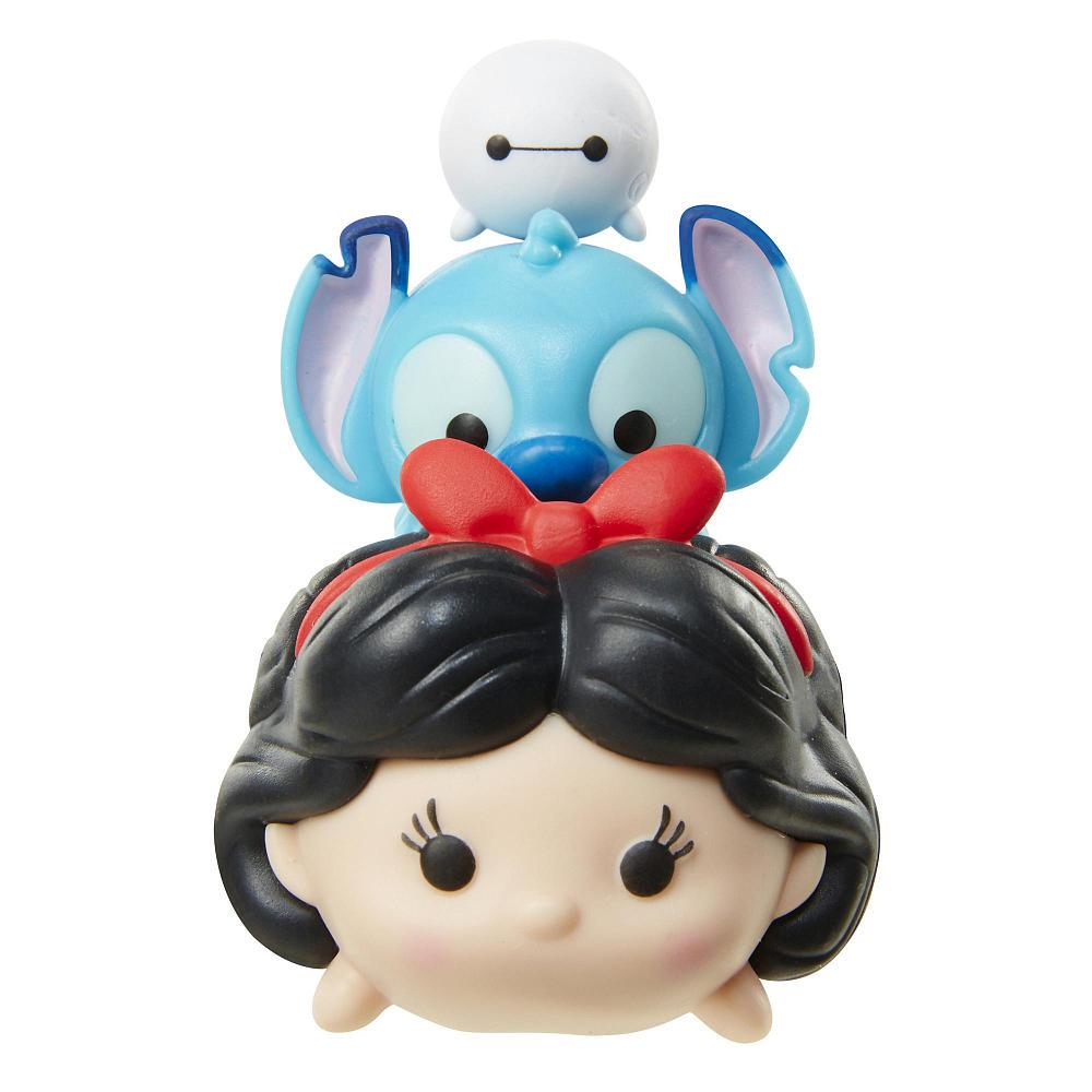 Tsum Tsum 3 Figuras Branca De Neve Stitch E Baymax Serie 3