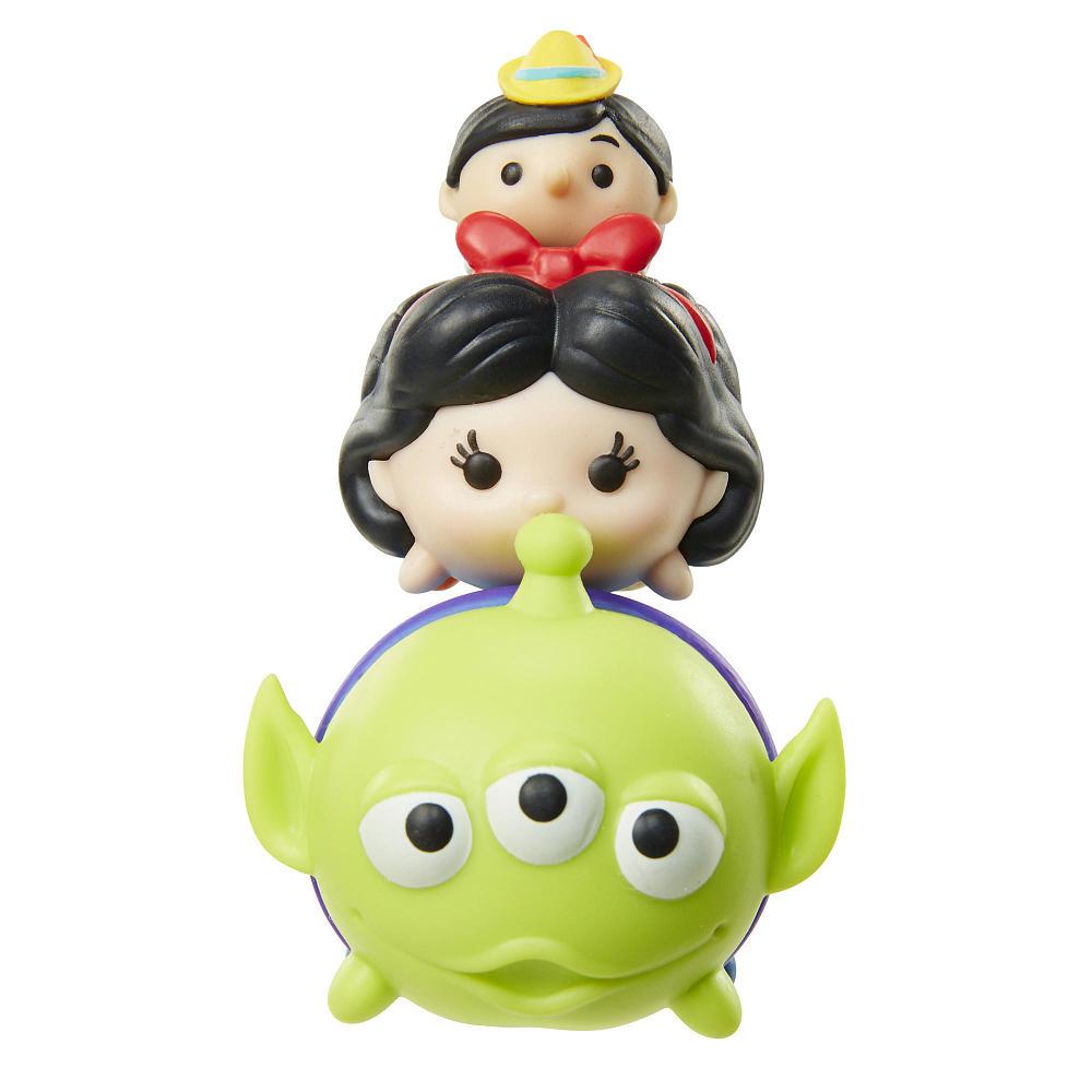 Tsum Tsum 3 Figuras Alien Branca De Neve E Pinoquio Serie 3