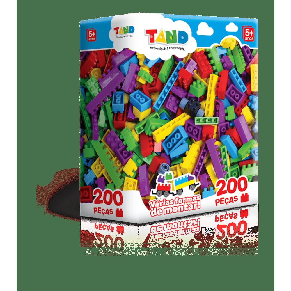 69dd293710 Blocos de Montar Tand - 200 Peças - MP Brinquedos