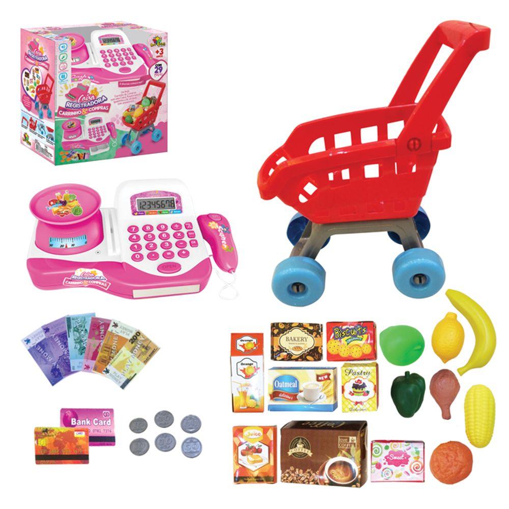 15691ae955 Caixa Registradora com Carrinho   Compras - Art Brink - MP Brinquedos