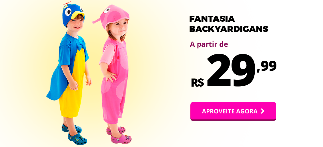 MEGA SALDAO VOLTA AS AULAS - FANTASIA BACKYARDIGANS