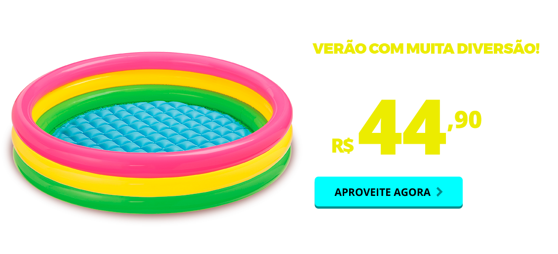Carnaval - piscina inflavel por do sol (colorida) 68 litros intex
