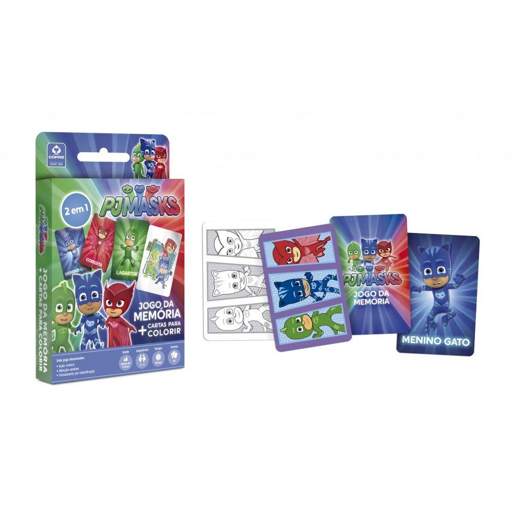 c9c975c2a4 Pj Masks - Jogo da Memória + Cartas Para Colorir - Copag - MP Brinquedos