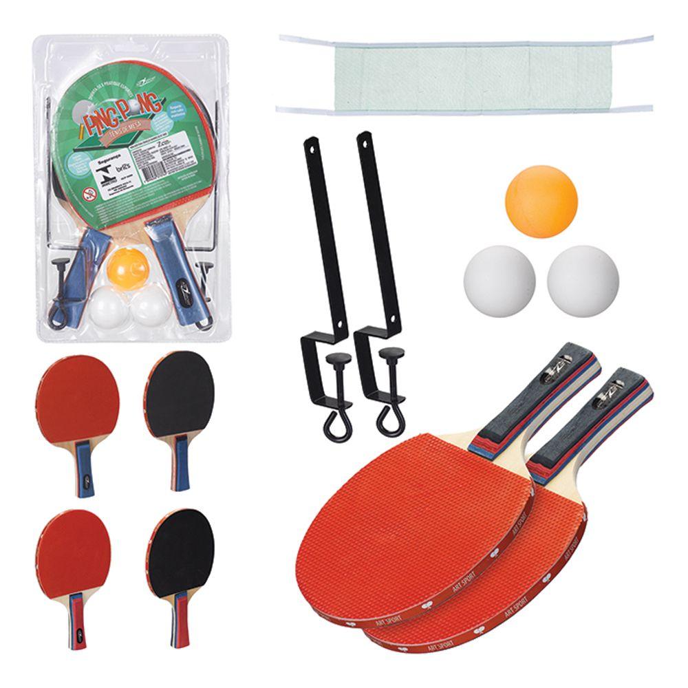 2b35be9f1 Kit Ping Pong com Rede - Art Sport - MP Brinquedos