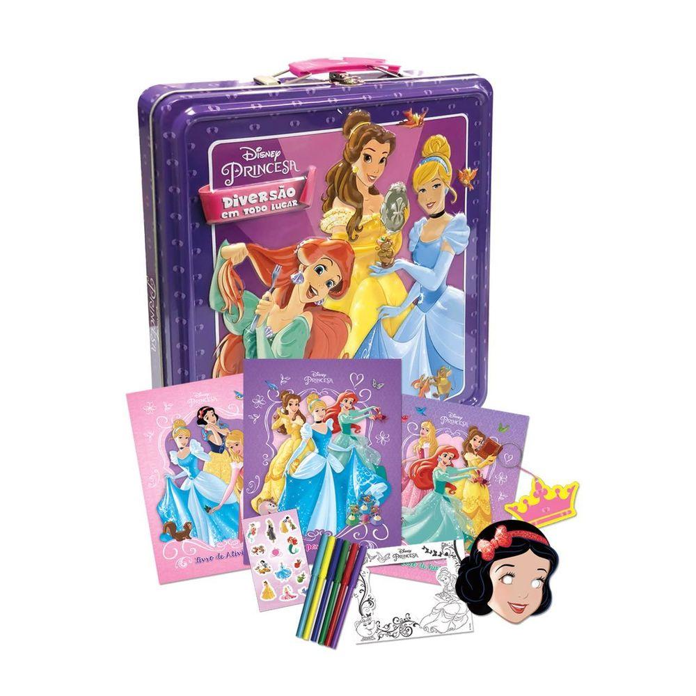 4f4cbec6bf Livro Princesas Disney - Lata Diversão em Todo Lugar - MP Brinquedos