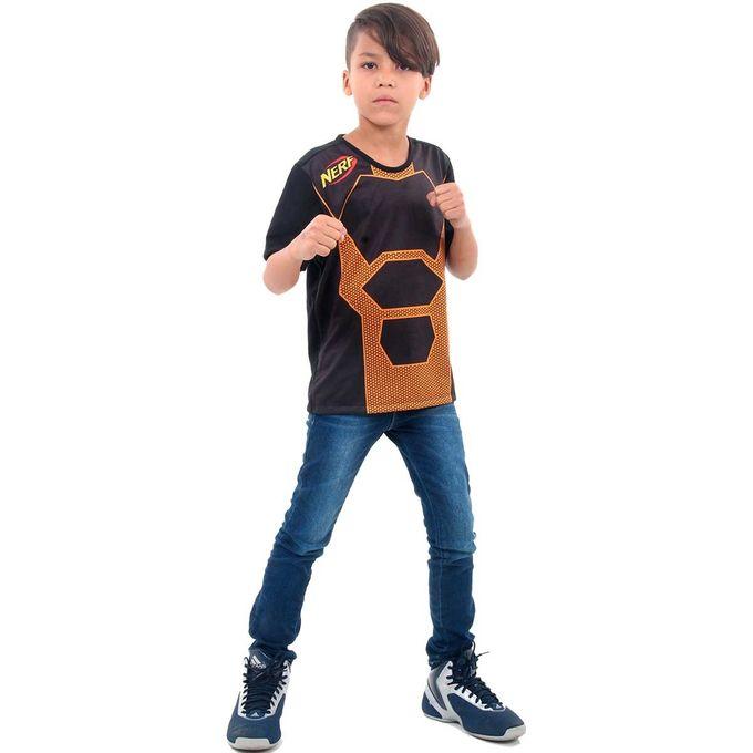 camiseta-nerf-laranja-com-crianca