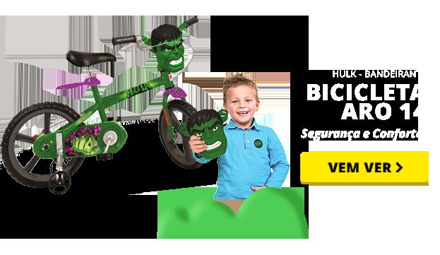 Bicicleta Aro 14 - Hulk - Bandeirante