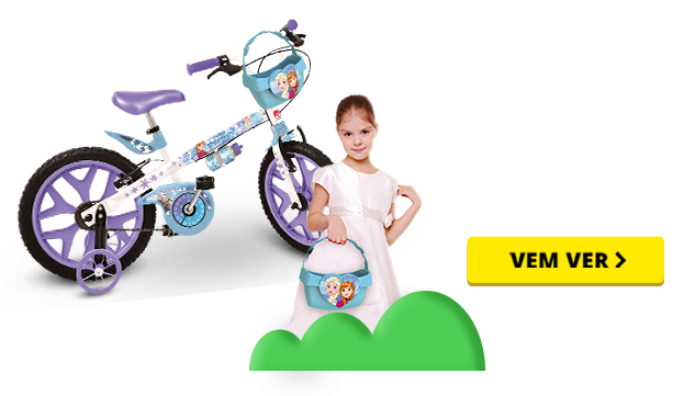 Bicicleta Aro 16 - Frozen Disney - Bandeirante
