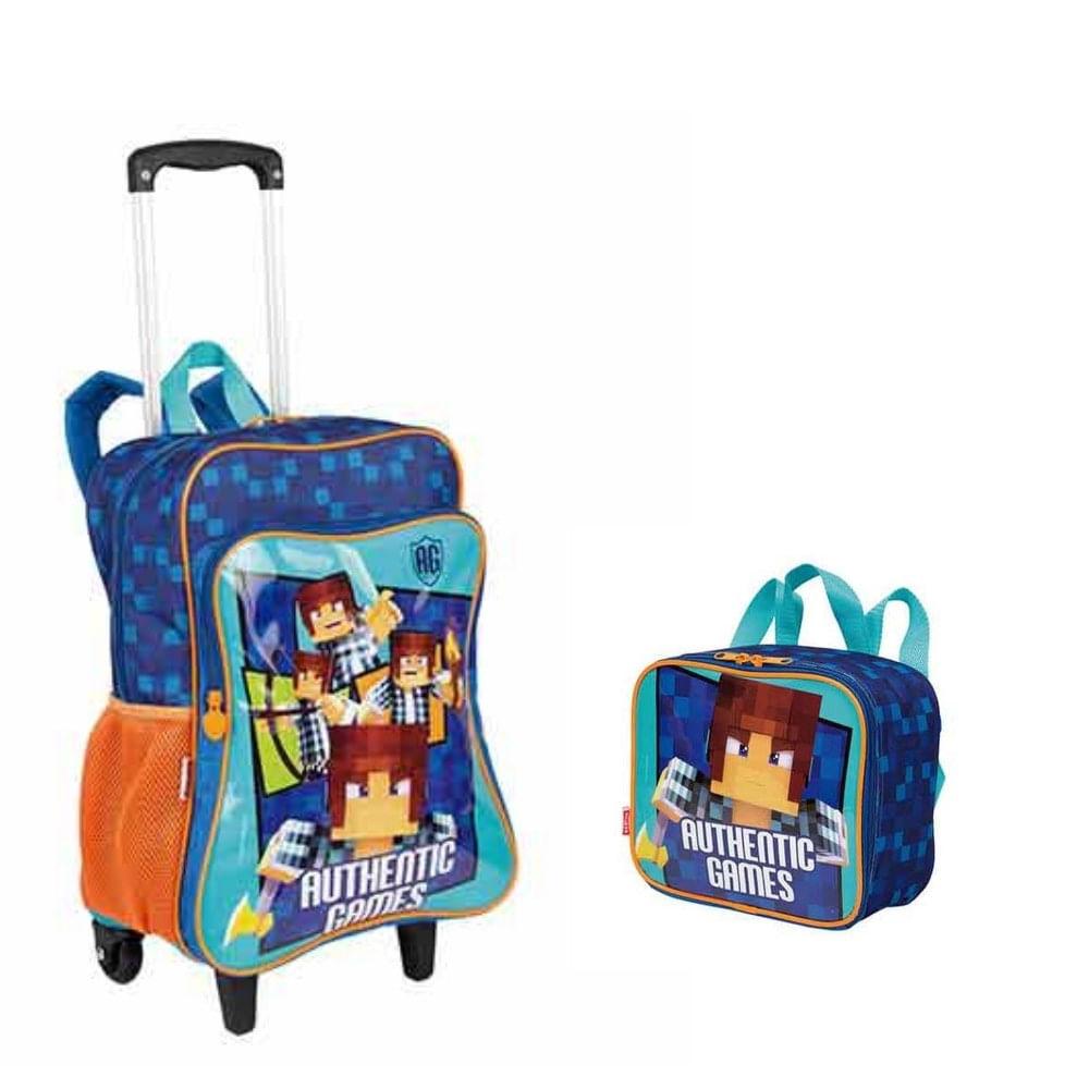 6b4572338 MP Brinquedos · Escolar · Mochilas. kit-mochila-rodinhas -com-bolso-e-lancheira-authentic-