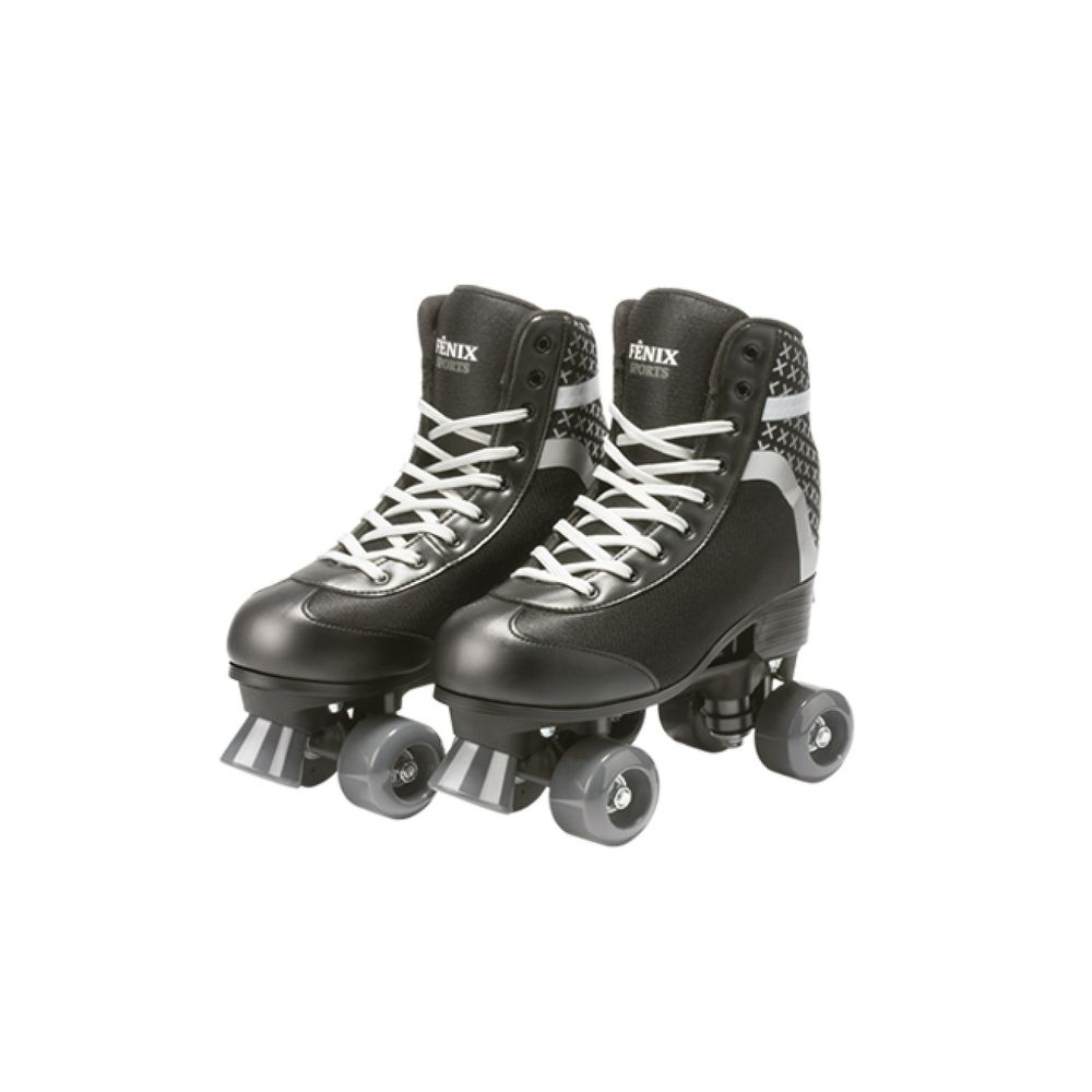 07514579d Patins Roller Skate Ajustáveis Preto Tam.35 a 38 - Fenix - MP Brinquedos