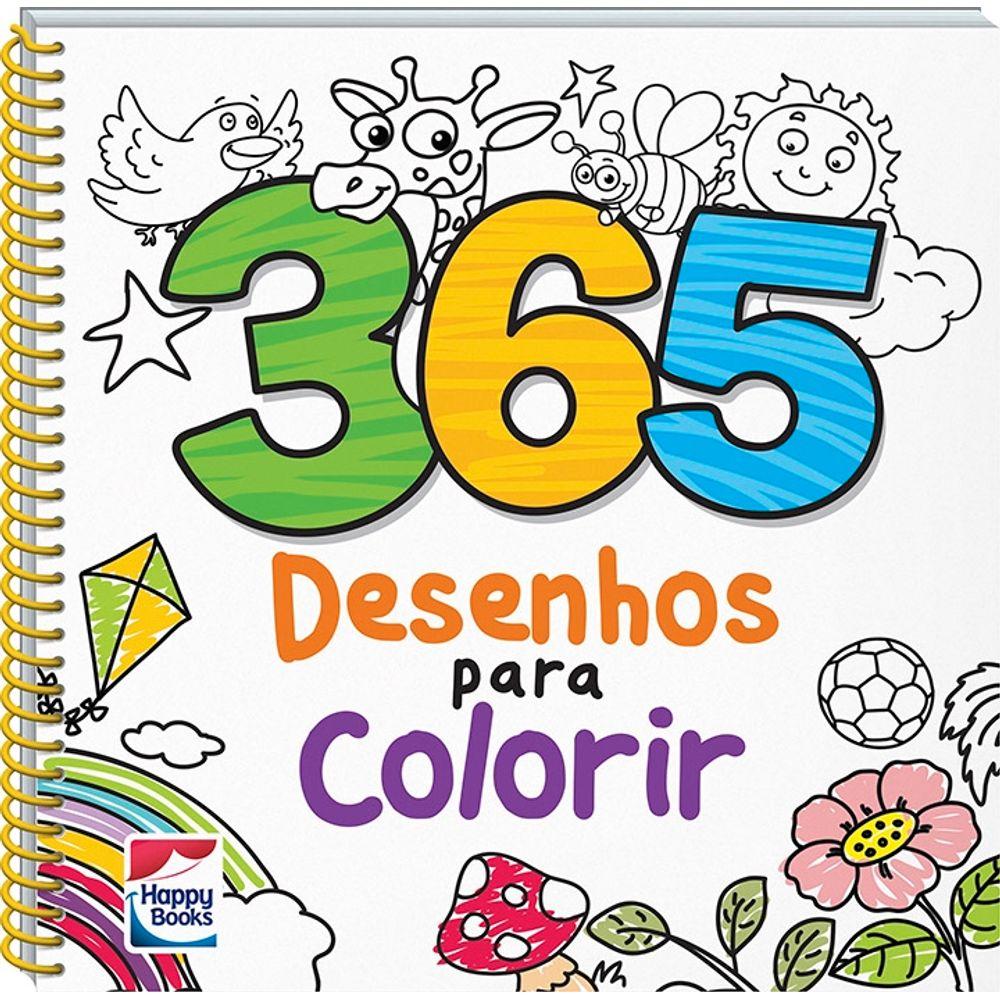 Livro 365 Desenhos Para Colorir Mp Brinquedos