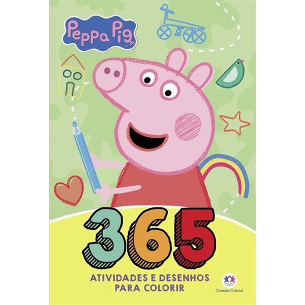 Livro Peppa Pig 365 Atividades E Desenhos Para Colorir