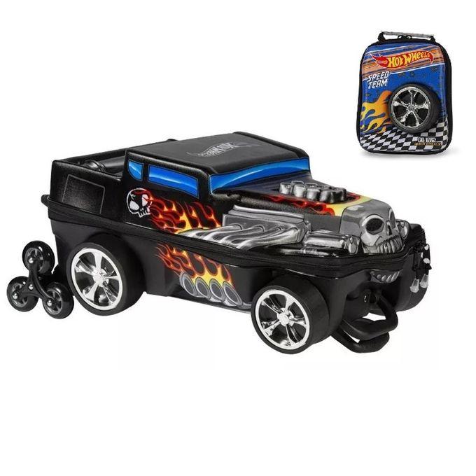 mochila-com-rodinhas-3d-e-lancheira-hot-wheels-conteudo