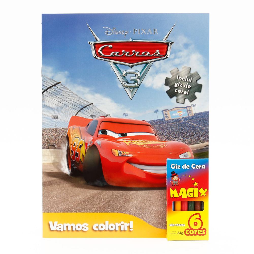 Livro Disney Vamos Colorir Carros 3 Mp Brinquedos