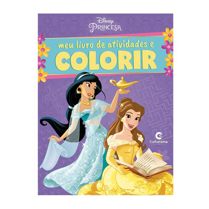 Livro Princesas Disney Meu Livro De Atividades E Colorir