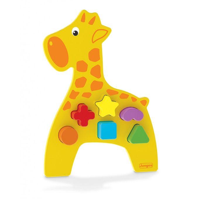 Animais Didáticos - Girafa Madeira - Junges - JUNGES