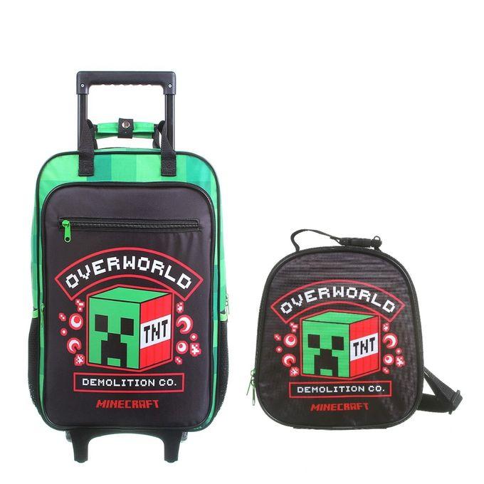 kit-mochila-com-rodinhas-e-lancheira-minecraft-conteudo