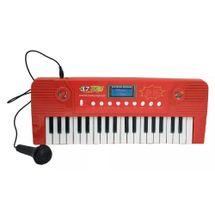 teclado-eletronico-microfone-vermelho-conteudo