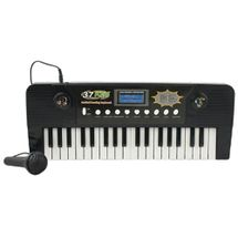 teclado-eletronico-microfone-preto-conteudo