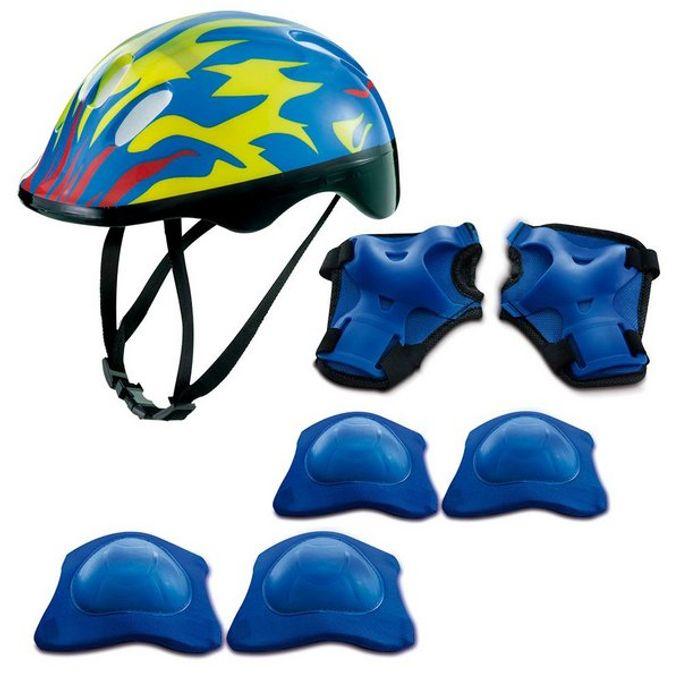 Kit de Proteção Chamas Azul com Capacete - Zippy Toys - ZIPPY TOYS