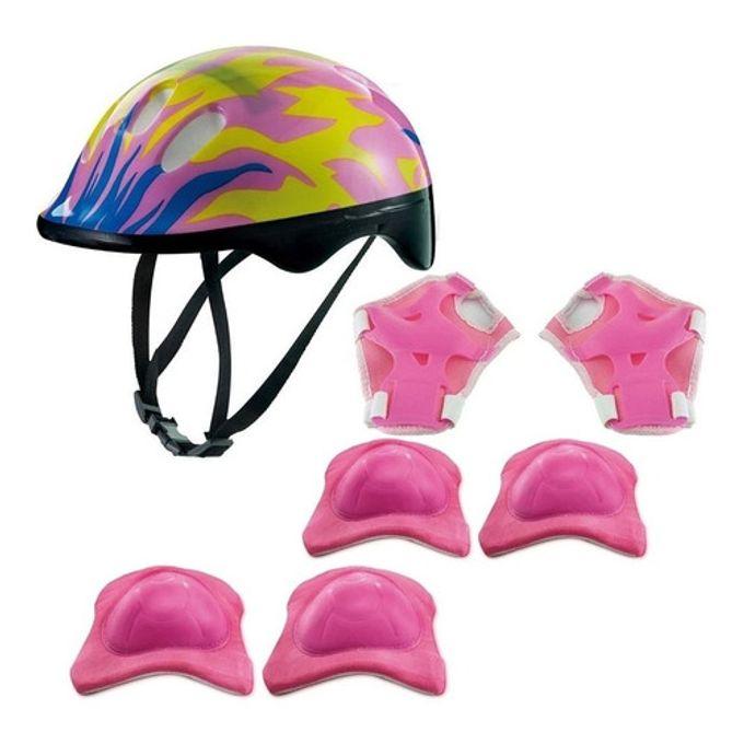 Kit de Proteção Chamas Rosa com Capacete - Zippy Toys - ZIPPY TOYS