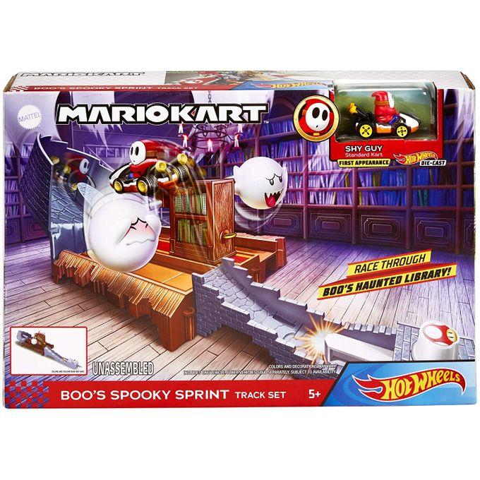 Hot Wheels - Mario Kart - Conjunto da Assustadora Pista de Corrida do Boo Gnm23 - MATTEL